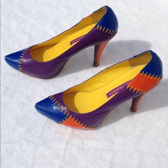 Chinese Laundry Shoes - Chinese Laundry Patchwork Platform Pumps